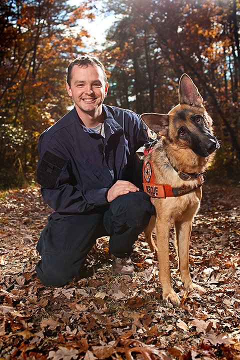 Matt D and K9 Danne in 2011