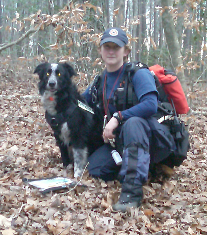 Sally & K9 Rocky 160-acre test