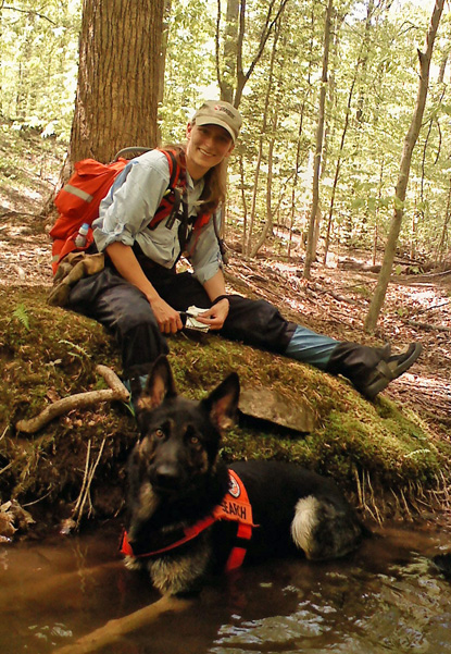 Autumn & K9 Cooper's 160-acre test